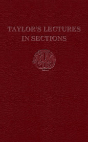 Taylor's Lectures In Sections Masonic ebook | 9780853182702