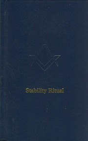 Stability Ritual Masonic ebook | 978085318